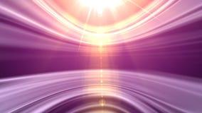 Anillos ligeros violetas almacen de video