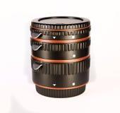 Anillos macros para una lente foto de archivo libre de regalías