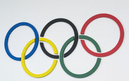 Anillos olímpicos Fotografía de archivo