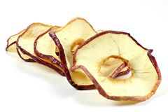 Anillos secados 03 de la manzana Imagen de archivo libre de regalías