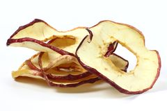 Anillos secados 04 de la manzana Imagen de archivo libre de regalías