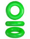 Anillos verdes de la nadada Imagenes de archivo