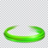 Anillos verdes del fuego que brillan intensamente con brillos ilustración del vector
