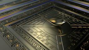 Animé les grandes inventions de la boussole antique de la Chine illustration libre de droits