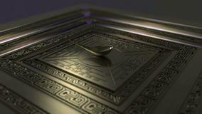 Animé les grandes inventions de la boussole plate antique de la Chine illustration stock