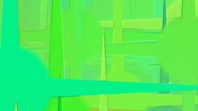 Animação abstrata com círculos coloridos com raios filme