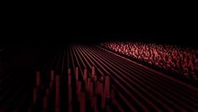 Animação abstrata de linhas da onda sadia As linhas coloridas movem-se como ondas sadias e saltam-se pulsos triangulares no preto ilustração do vetor