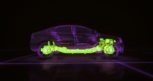 Animação abstrata de um carro dentro Foto de Stock Royalty Free