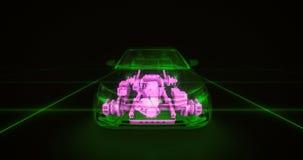 Animação abstrata de um carro dentro ilustração royalty free