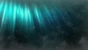 Animação abstrata sem emenda da Aurora no céu noturno empoeirado Céu noturno nebuloso com teste padrão movente da poeira do fundo ilustração royalty free