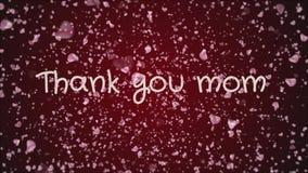 A animação agradece-lhe mamã, o dia de mãe, cartão ilustração do vetor