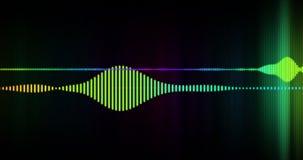 Animação audio 4K do espectro de Digitas video estoque