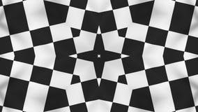 Animação branca preta do fundo do sumário do teste padrão - ilustração royalty free