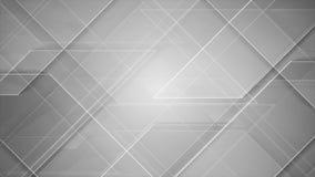 Animação brilhante cinzenta abstrata do vídeo da tecnologia ilustração stock