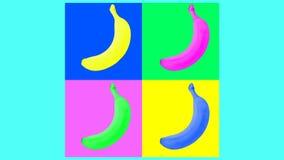 Animação colorida abstrata do fruto vídeos de arquivo