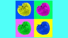 Animação colorida abstrata do fruto video estoque