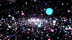 Animação colorida abstrata do fundo da partícula ilustração do vetor