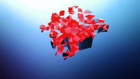 Animação completa de HD de um cubo de explosão ilustração royalty free