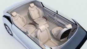 animação 3D da disposição da reunião de negócios no auto que conduz o carro ilustração do vetor