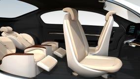 animação 3D da disposição da reunião de negócios no auto que conduz o carro ilustração stock