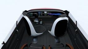 animação 3D da disposição da reunião de negócios no auto que conduz o carro ilustração royalty free