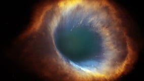 animação 3D da nebulosa da hélice ilustração royalty free