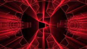 animação 3D do fundo abstrato com laço sem emenda ilustração do vetor