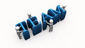 animação 3D que apresenta o conceito da equipe ilustração do vetor