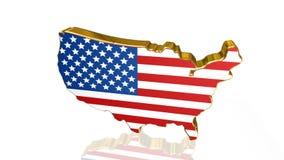 Animação da bandeira americana ilustração royalty free