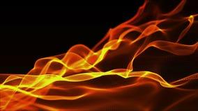Animação da cor vermelha da partícula do sumário do fundo da onda de Digitas borrada ilustração royalty free