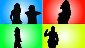 Animação da dança do adolescente video estoque