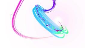 Animação da linha de espectro abstrata à moda colorida luz do arco-íris com a cabeça de incandescência que move-se e que viaja no ilustração stock