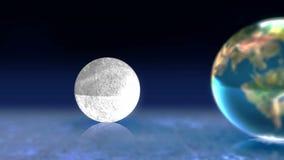 Animação da lua e do sol da terra ilustração royalty free