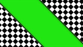 Animação da porta do verificador com tela verde, rendição, fundo, laço, 4k ilustração royalty free