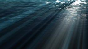 Animação dando laços de alta qualidade de ondas de oceano do underwater realístico ilustração stock