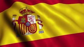 Animação das imagens de vídeo da bandeira da Espanha - 4K