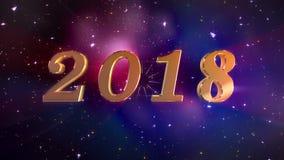 Animação de abertura do ano novo 2018 ilustração do vetor
