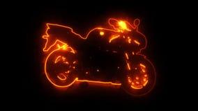 Animação de brilho Logo Graphic Motion da motocicleta da bicicleta da raça vídeos de arquivo