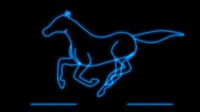 Animação de corrida do cavalo - laço ilustração stock