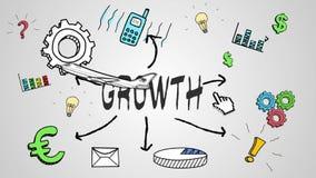 Animação de Digitas do conceito do crescimento ilustração stock