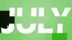 Animação de julho ilustração stock