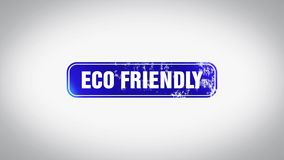 Animação de madeira animado amigável do selo da palavra 3D de Eco ilustração stock