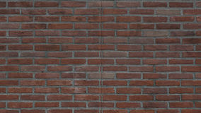 Animação de uma parede de tijolo, que junto ou distante com canal alfa ilustração royalty free