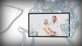 Animação de vídeos médicos ilustração royalty free