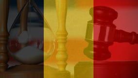 Animação digital conceptual da bandeira de Bélgica filme