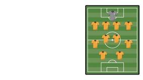 Animação do aligment do futebol da equipe ilustração stock