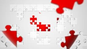 Animação do coração do enigma de serra de vaivém ilustração royalty free