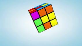 Animação do cubo de Rubik ilustração stock