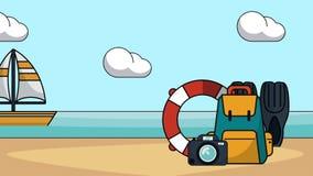 Animação do curso e das férias HD ilustração royalty free