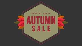 Animação do dia do outono da promoção do disconto da compra ilustração royalty free